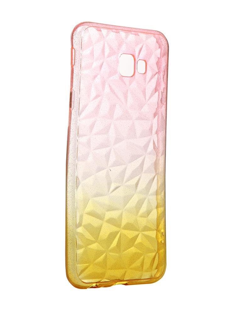Чехол Krutoff для Huawei P8 Lite Crystal Silicone Yellow-Pink 12274