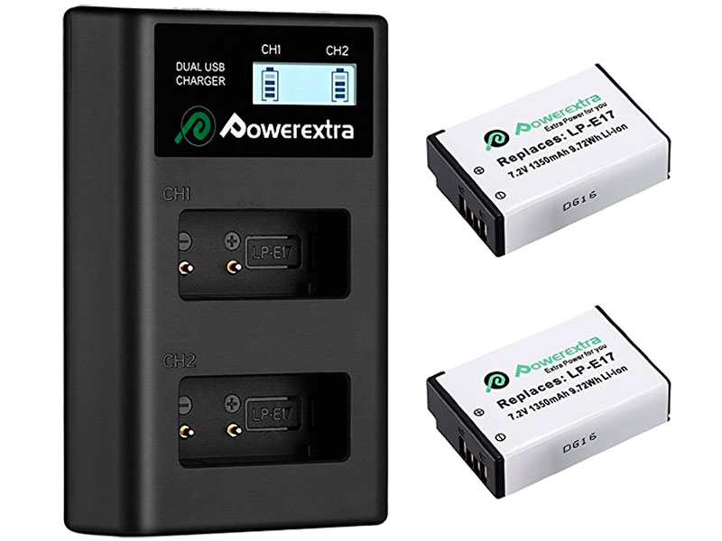Аккумулятор Powerextra LP-E17 + зарядное устройство 18495