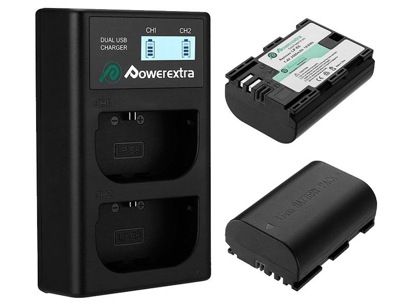 Аккумулятор Powerextra LP-E6 + зарядное устройство 18494