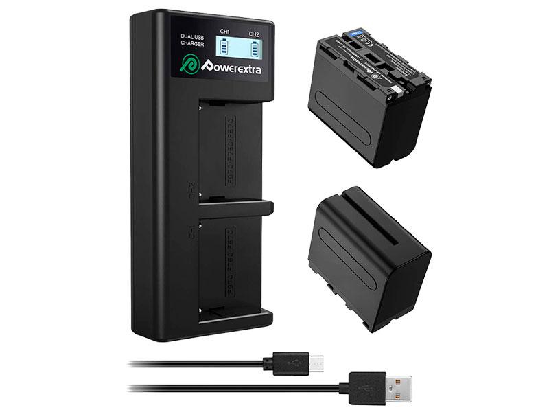 Аккумулятор Powerextra NP-F970 + зарядное устройство 18497