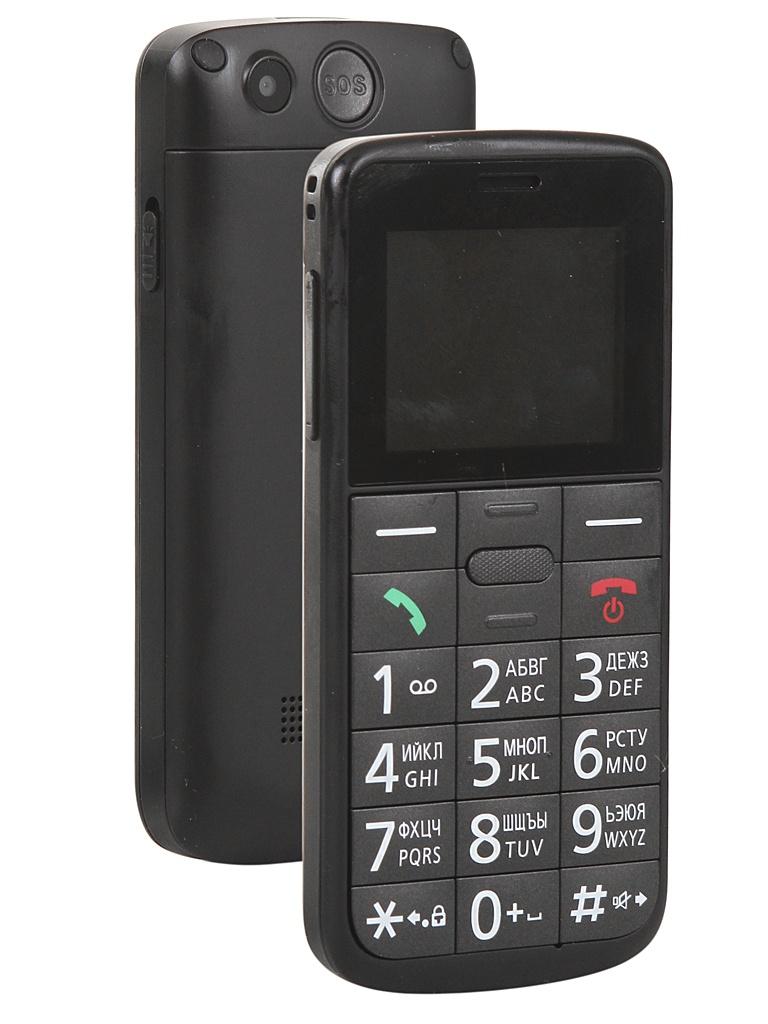 Сотовый телефон Panasonic KX-TU110RU Black сотовый