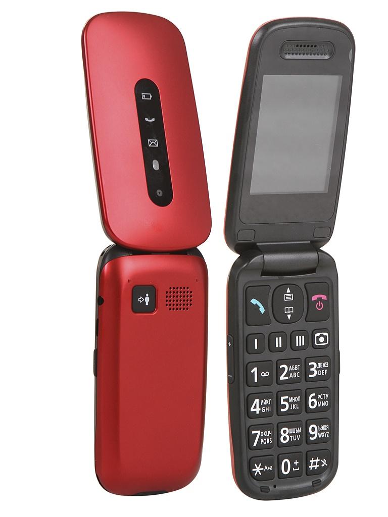 Сотовый телефон Panasonic KX-TU456RU Red сотовый