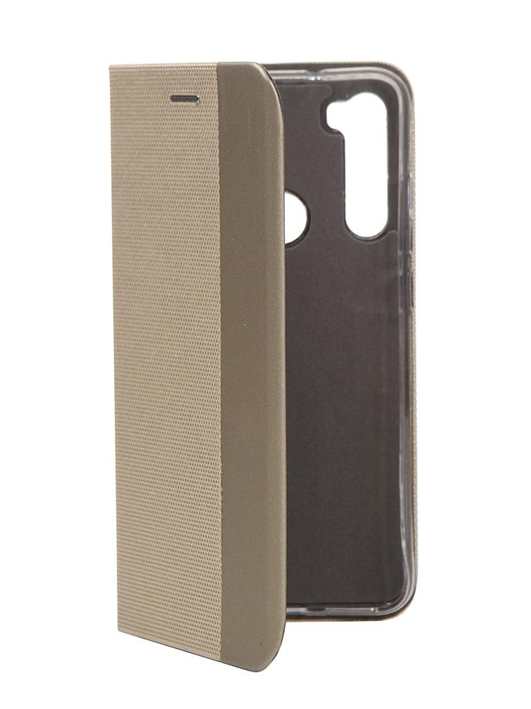 Чехол Fono для Xiaomi Redmi Note 8 Folio Case Gold 9962