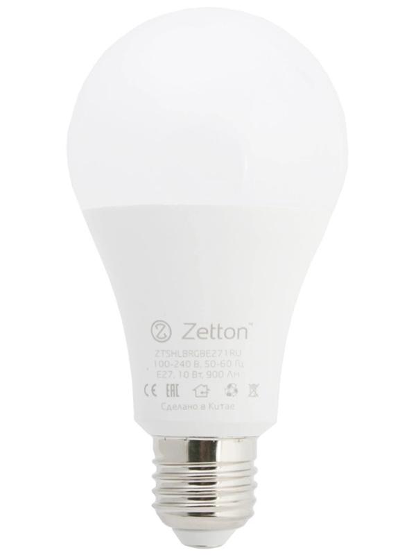 Лампочка Zetton LED RGBW Smart Wi-Fi Bulb E27 10W ZTSHLBRGBE271RU