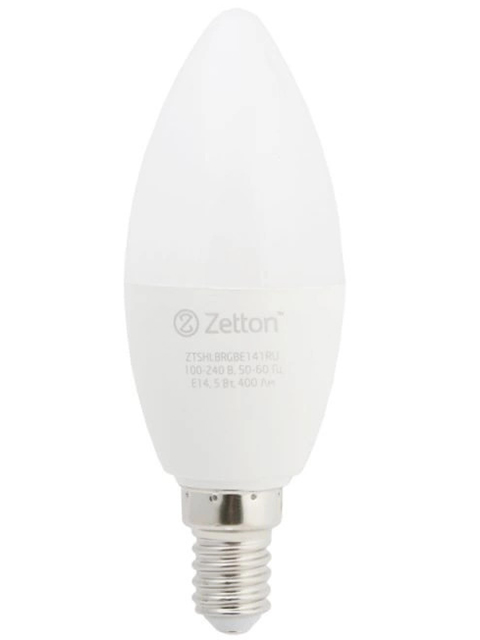 Лампочка Zetton LED RGBW Smart Wi-Fi Bulb E14 5W ZTSHLBRGBE141RU