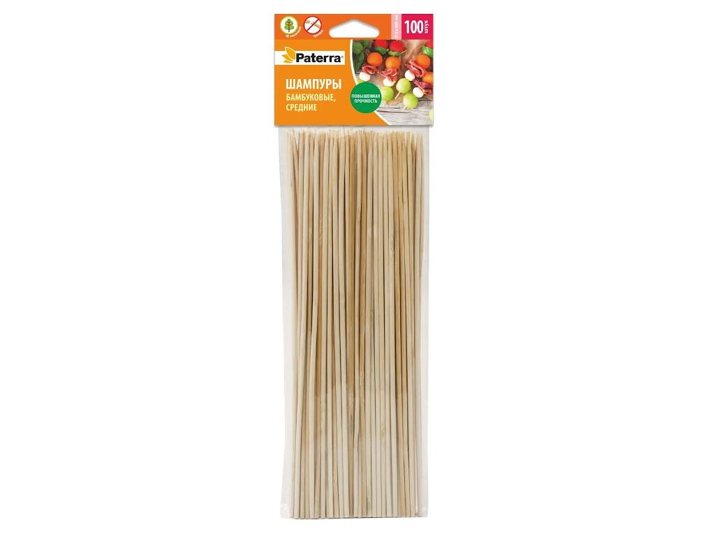 Шампуры бамбуковые Paterra 250mm 100шт 401-495