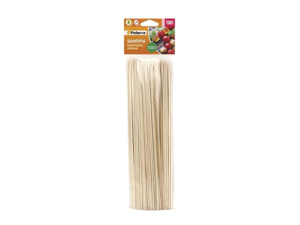 Шампуры бамбуковые Paterra 300mm 100шт 401-696