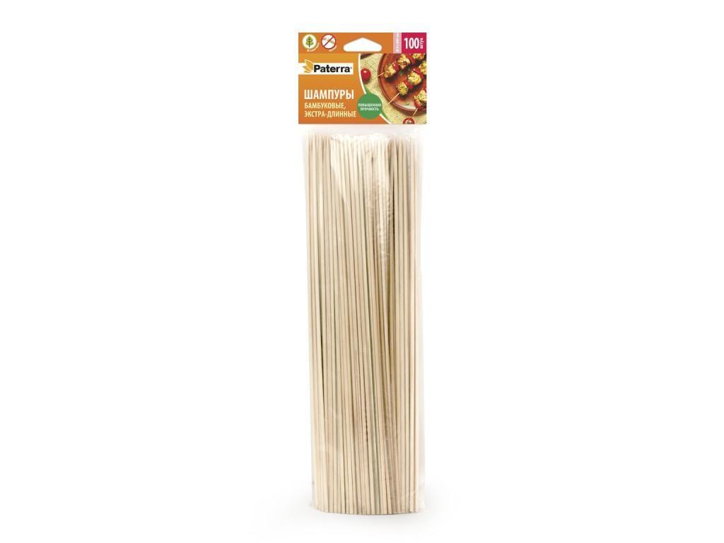 Шампуры бамбуковые Paterra 400mm 100шт 401-496