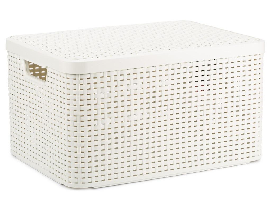 Корзина Curver Rattan Style Box L 30L + крышка Cream 03619-885