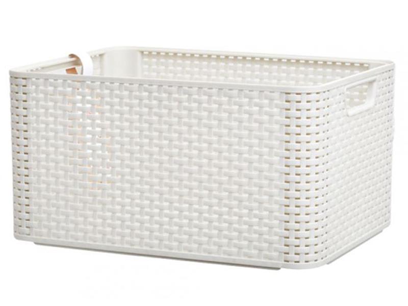 Корзина Curver Rattan Style Box LCream 03616-885-00