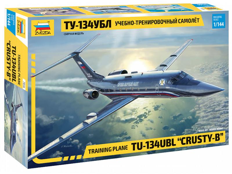 Сборная модель Zvezda Учебно-тренировочный самолёт ТУ-134УБЛ 7036