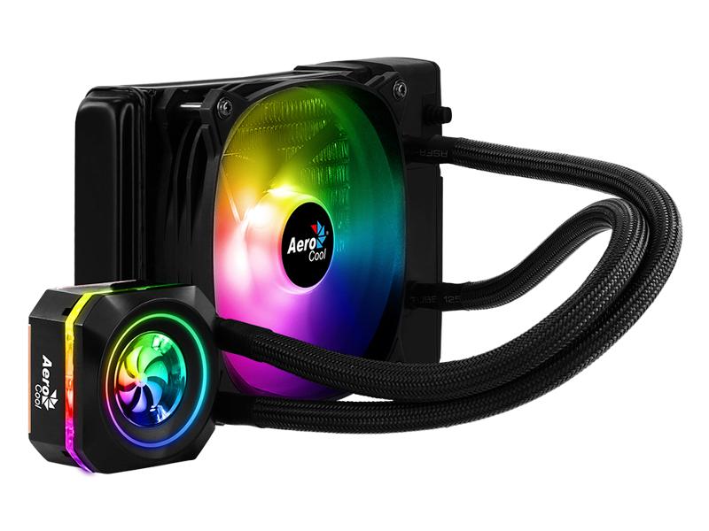 Водяное охлаждение AeroCool Pulse L120F RGB Black 4718009157668 (Intel LGA 2066/2011-V3/115X/1366/775 AMD FM1/FM2/AM4/AM3+/AM3)