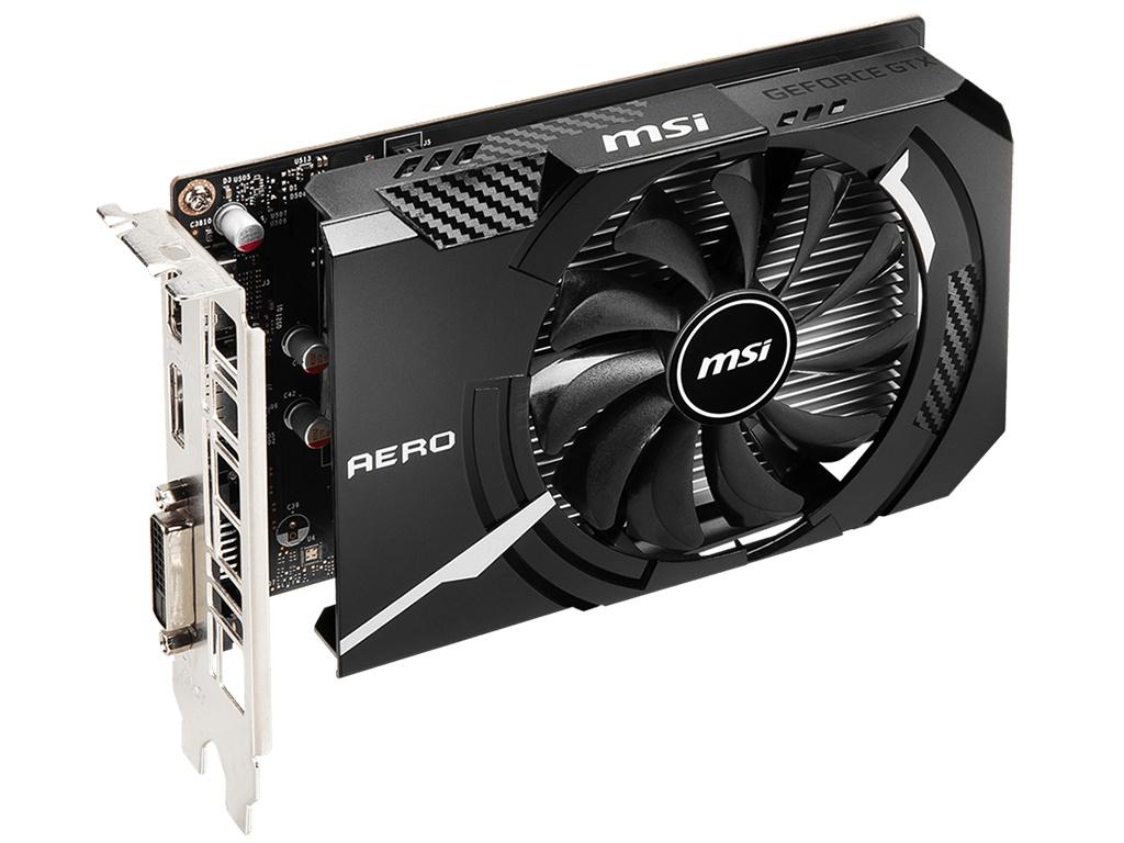 Видеокарта MSI GeForce GTX 1650 D6 Aero ITX OC 1620MHz PCI-E 3.0 4096Mb 12000Mhz 128-bit DL-DVI-D DP HDMI / V1