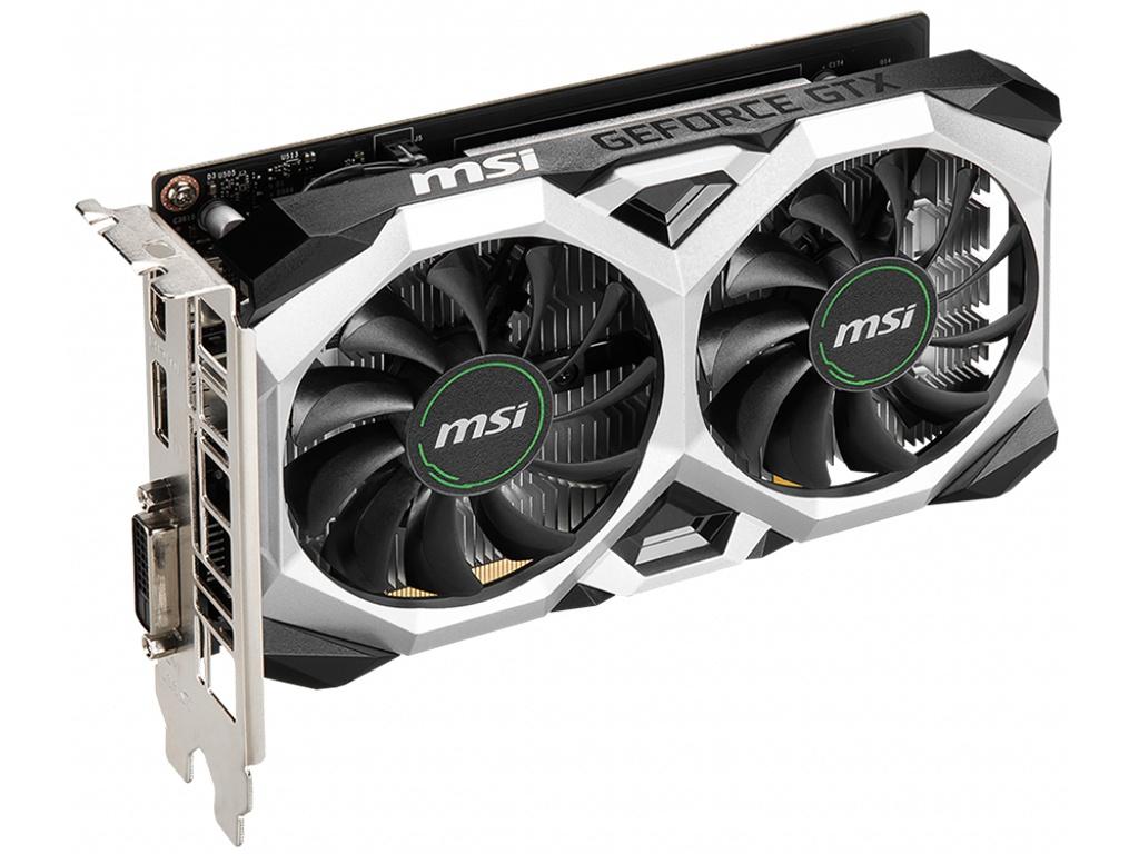 Видеокарта MSI GeForce GTX 1650 D6 Ventus XS OC 1620MHz PCI-E 3.0 4096Mb 12000Mhz 128-bit DL-DVI-D DP HDMI видеокарта msi gtx 1650 4096mb gtx 1650 d6 gaming x