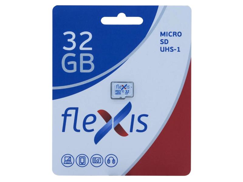 Карта памяти 32Gb - Flexis Micro Secure Digital HC Class 10 U1 FMSD032GU1