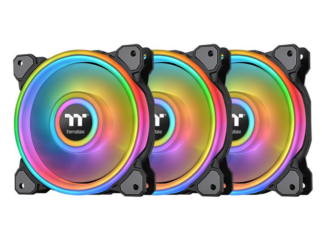 Вентилятор Thermaltake Riing Quad 12 RGB Premium Edition 3-Pack Black CL-F088-PL12SW-A