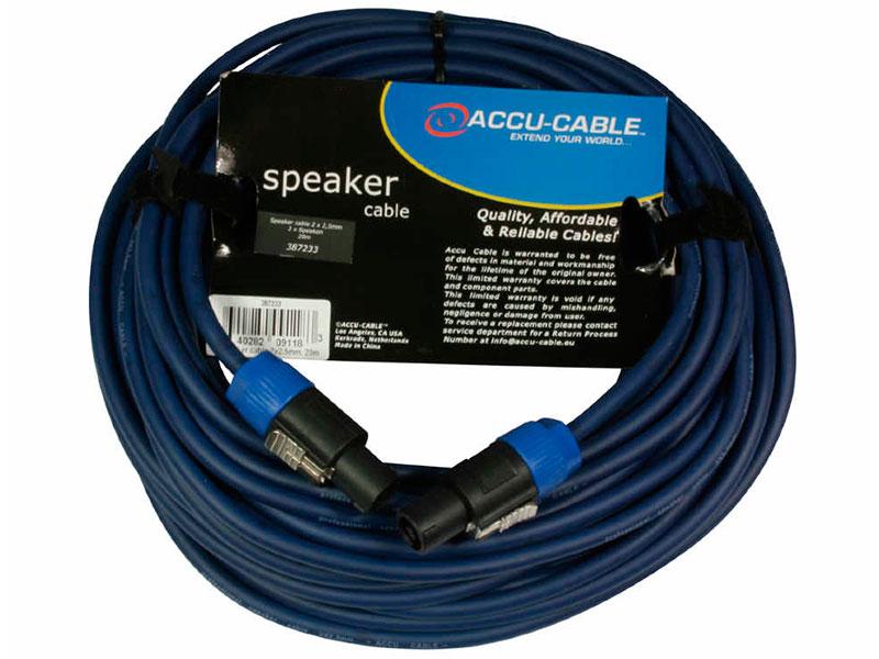 Фото - Акустический кабель American Dj Speakon - Speakon 20m AC-PRO-SP2-2.5/20 20 pcs spdt 1no 1nc momentary hinge lever mini micro switches ac 125v 1a 3 pins