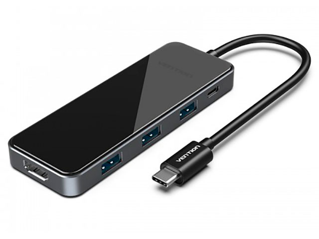 Хаб USB Vention USB-C - HDMI / 3xUSB 3.0 OTG/PD THPBB
