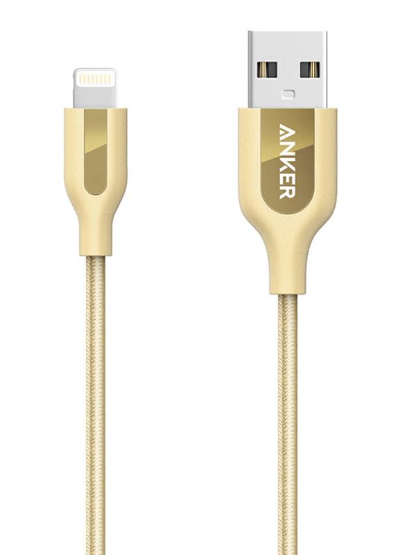 Аксессуар Anker PowerLine+ USB - Lightning 90cm Gold A8121HB2