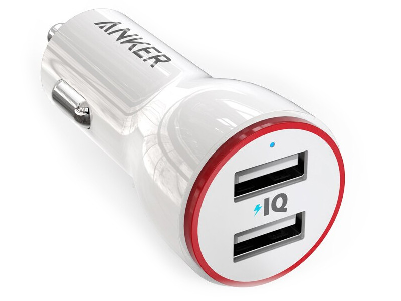 Зарядное устройство Anker PowerDrive 2 24W 2-Port Car Charger White A2310G21