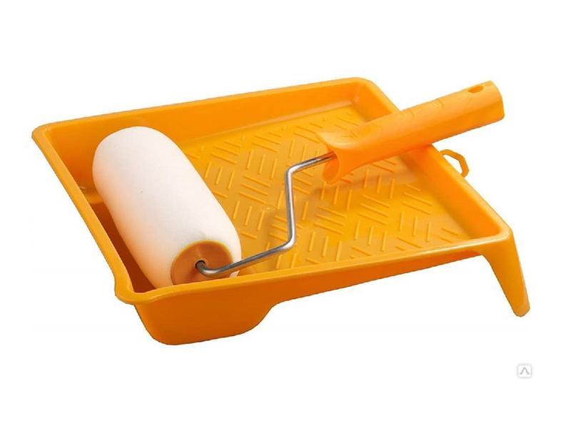 Валик с ванночкой Stayer Поролон 180mm 2-05438-18 валик stayer горошек 0367 18