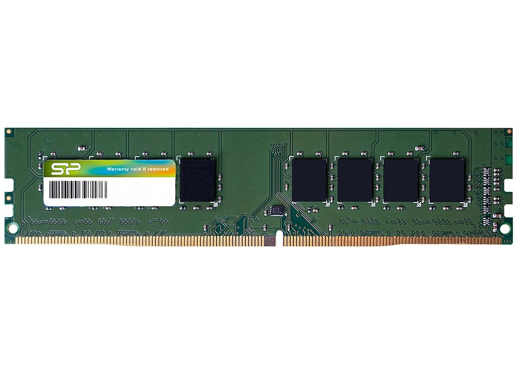 Модуль памяти Silicon Power DDR4 DIMM 2400Mhz PC-19200 CL17 - 4Gb SP004GBLFU240N02