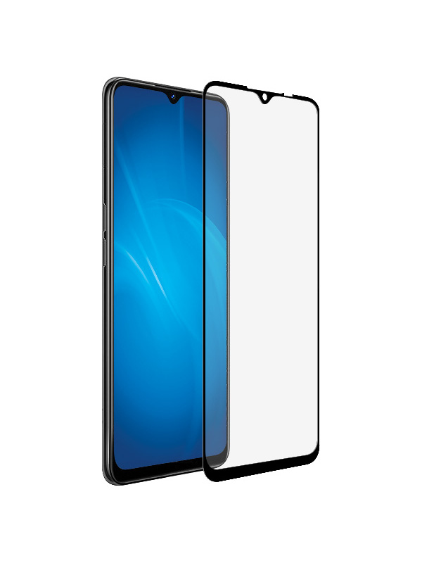 Закаленное стекло DF для Oppo Reno 3 Full Screen Glue oColor-13 Black Frame