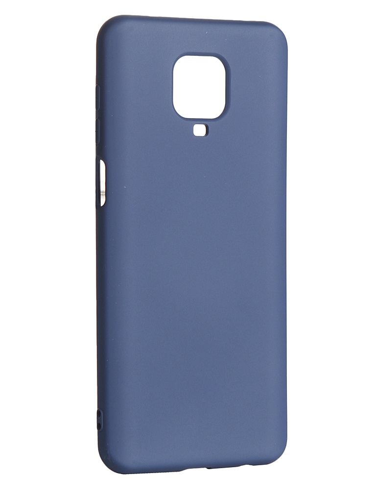 Чехол DF для Xiaomi Redmi Note 9S / 9 Pro / 9 Pro Max с микрофиброй Silicone xiOriginal-09 Blue