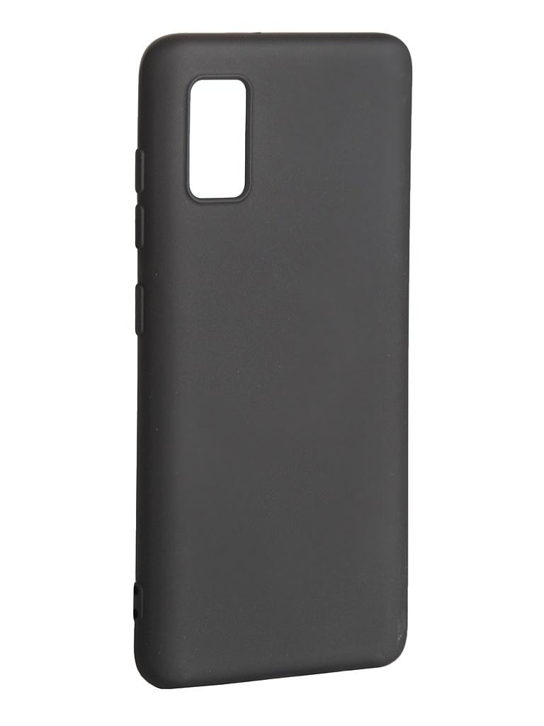 Чехол DF для Samsung Galaxy A41 с микрофиброй Silicone sOriginal-10 Black