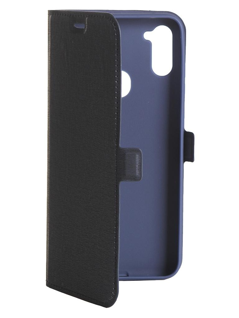 Чехол DF для Samsung Galaxy M11 sFlip-66 Blue