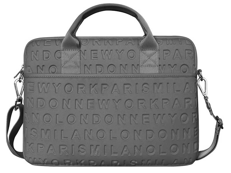 Сумка 15.4-inch Wiwu Vogue Laptop Slim Bag с ремешком Grey 6957815515844