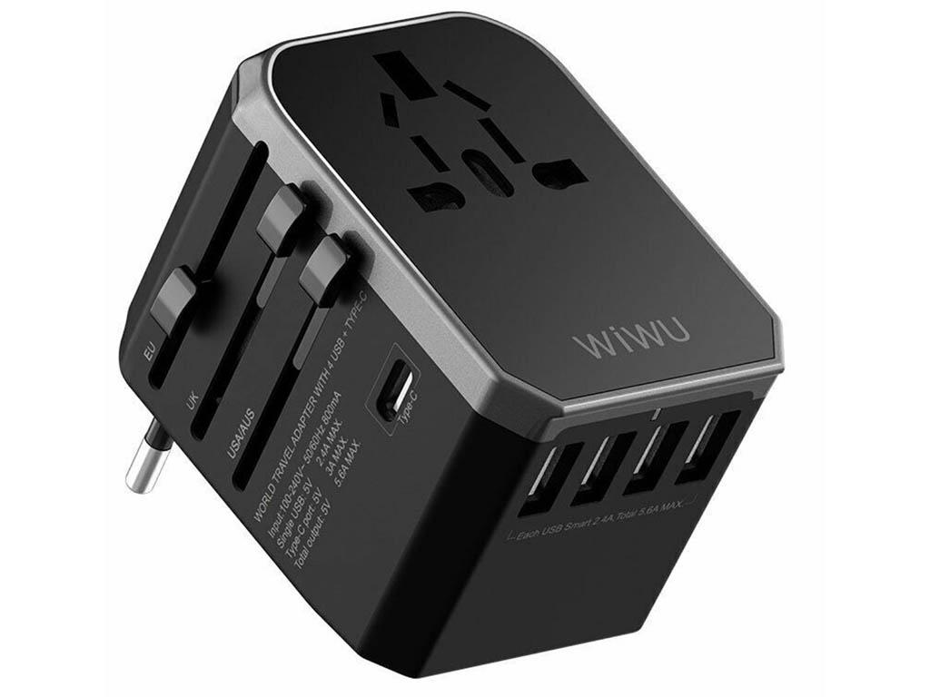 Зарядное устройство Wiwu Universal Adapter UA301 Black 6957815510054