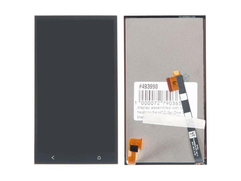 Дисплей RocknParts для HTC One M7 в сборе с тачскрином Black 493990