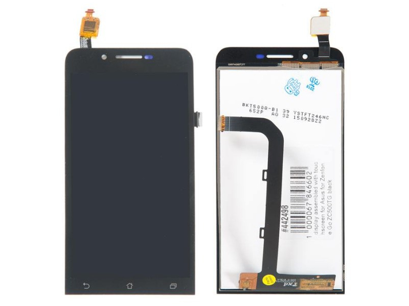 Дисплей RocknParts для ASUS ZenFone Go ZC500TG в сборе с тачскрином Black 442498