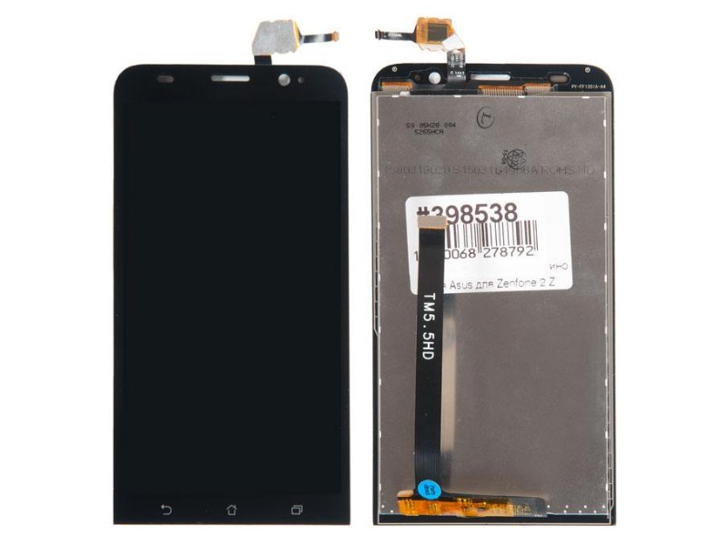 Дисплей RocknParts для ASUS ZenFone 2 ZE550ML в сборе с тачскрином Black 398538 дисплей rocknparts для asus zenfone 3 ze552kl в сборе с тачскрином white 745568