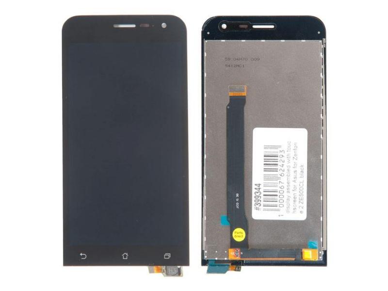 Дисплей RocknParts для ASUS ZenFone 2 ZE500CL в сборе с тачскрином Black 399344