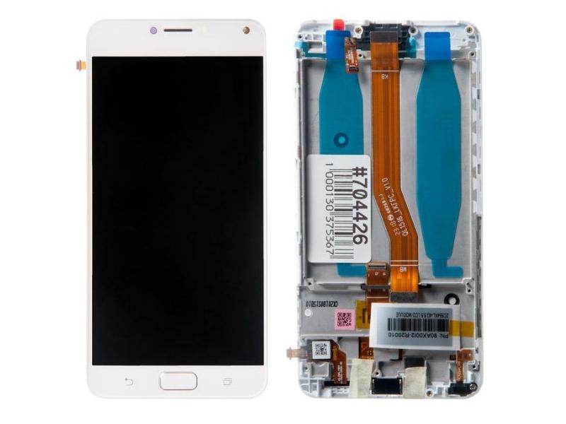Дисплей RocknParts для ASUS Zenfone 4 MAX ZC554KL в сборе с тачскрином, передней панелью White 704426 дисплей rocknparts для asus zenfone 3 max zc520tl в сборе с тачскрином white 632753