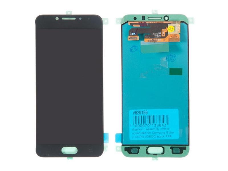 Дисплей RocknParts для Samsung Galaxy C5 Pro (C5010) в сборе с тачскрином Black 620199