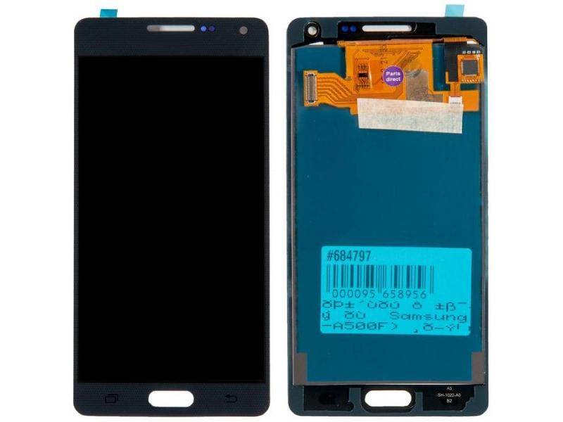 Дисплей RocknParts для Samsung Galaxy A5 (SM-A500F) в сборе с тачскрином Black 684797