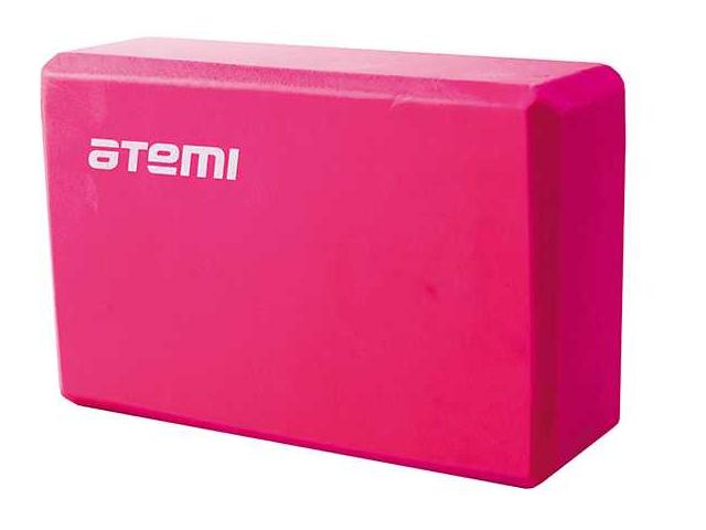 Блок для йоги Atemi Pink AYB01P