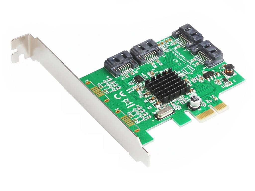 Контроллер Orient M9215S PCI-Ex v2.0 - 4 x SATA3.0 oem 30988 разветвитель питания orient dc 8p для камер видеонаблюдения 1пит 8пит oem