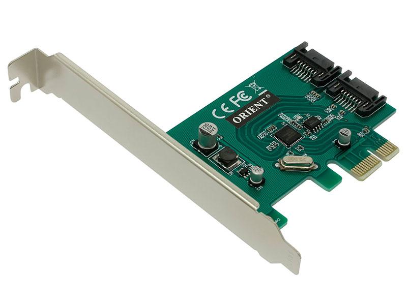 Контроллер Orient A1061SL PCI-Ex v2.0 - 2int x SATA3.0 oem 30323 разветвитель питания orient dc 8p для камер видеонаблюдения 1пит 8пит oem