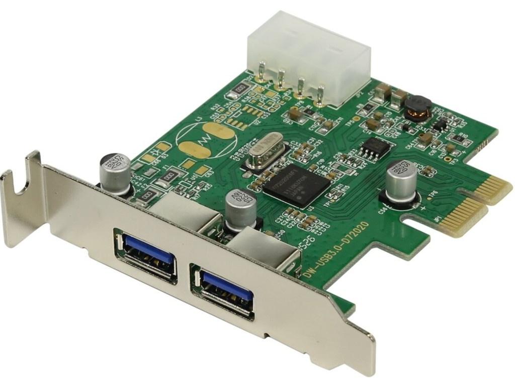 Контроллер Orient NC-3U2PELP PCI-Ex - 2ext x USB 3.0 oem 30223