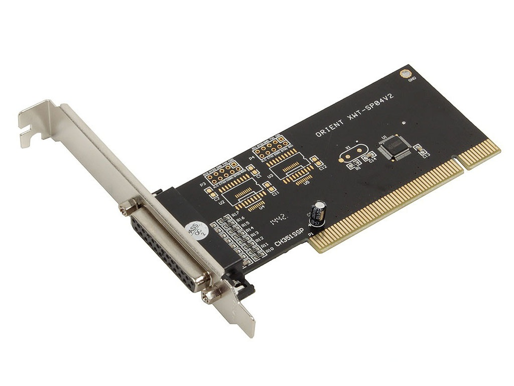 Контроллер Orient XWT-SP04V2 PCI - 1x LPT 29973 контроллер pci e orient xwt pe1s1pv2 com lpt oem