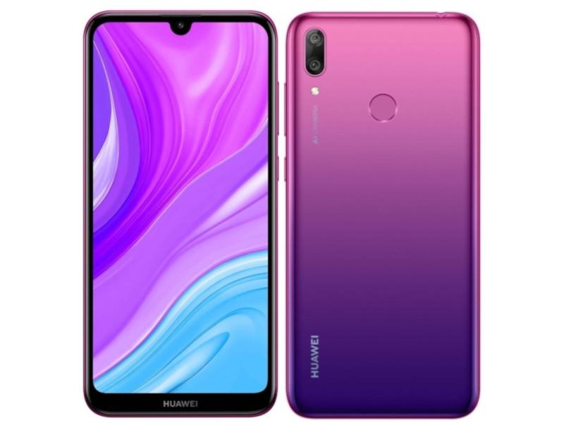 Фото - Сотовый телефон Huawei Y7 2019 4/64Gb Aurora Purple сотовый телефон huawei y7 2019 4 64gb aurora purple