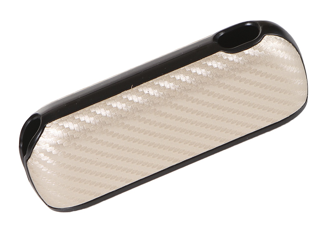 Чехол G-Case для Iqos 3 / Duos Carbon + панель Gold GG-1227