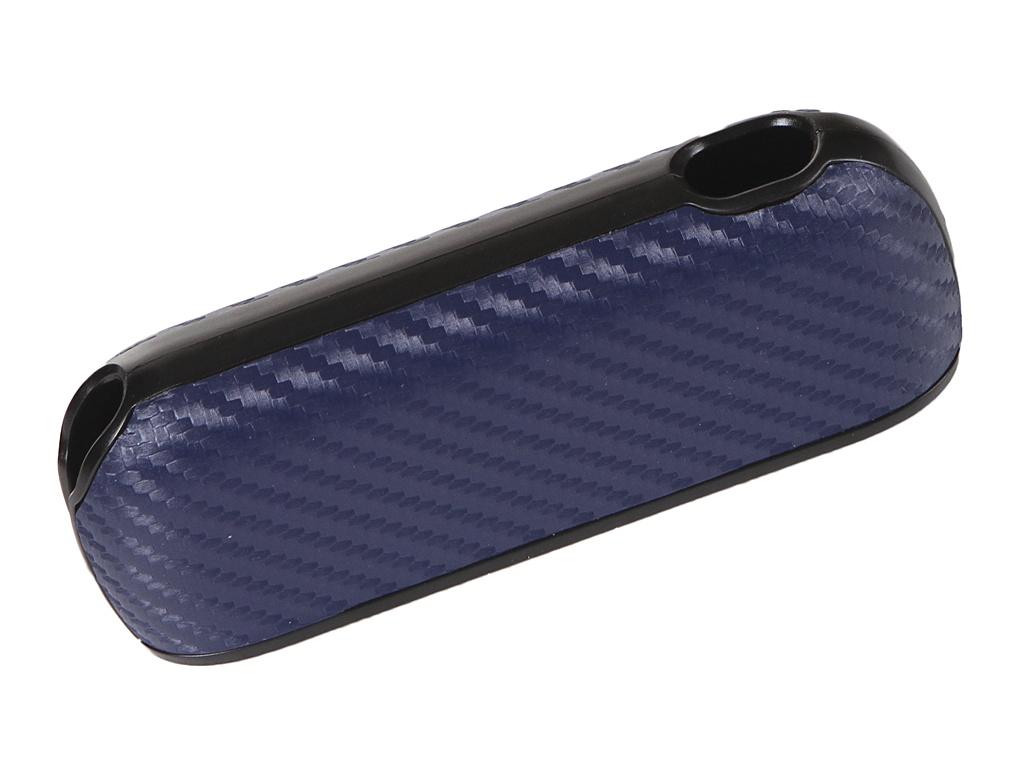 Чехол G-Case для Iqos 3 / Duos Carbon + панель Dark Blue GG-1225