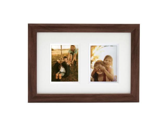 Фото - Рамка Fujifilm Instax Twin Mount Mini Frame Dark Oak 70100139142 установочная рамка elac plaster frame