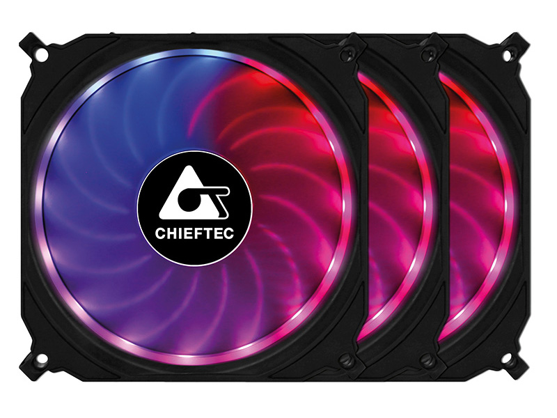 Вентилятор Chieftec Chieftronic CF-3012-RGB 120mm 3in1