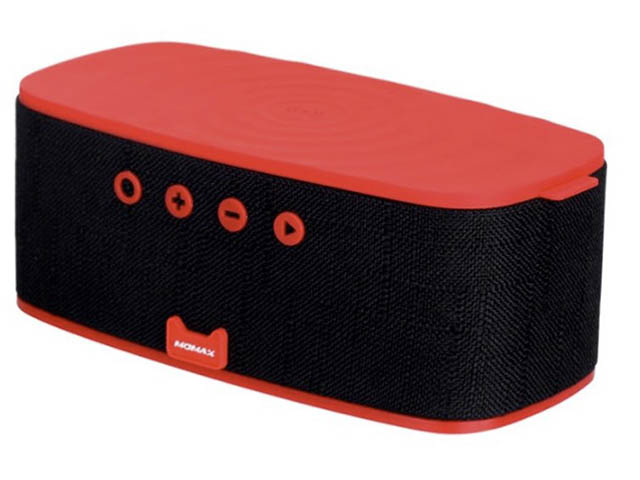 Колонка Momax Q.Zonic Wireless Charging Bluetooth Speaker QS1R Red